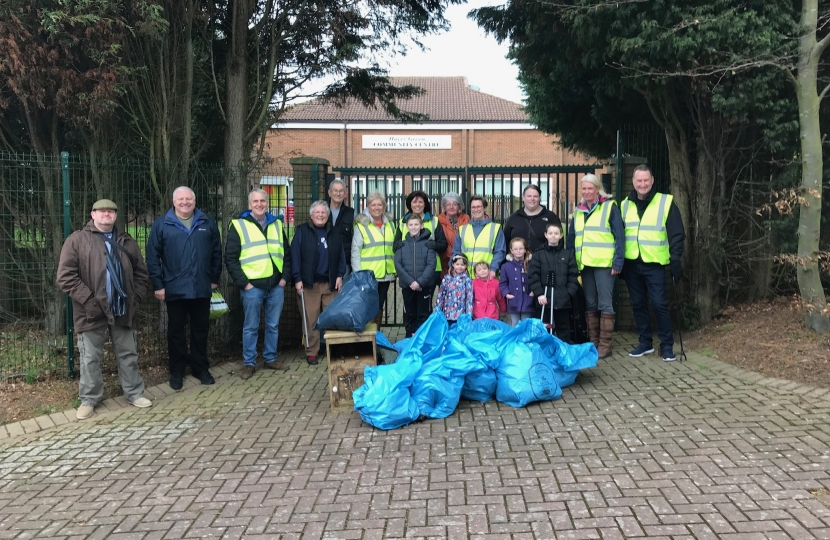 Litter Pick Hawkes Green - Sunday, 17 February